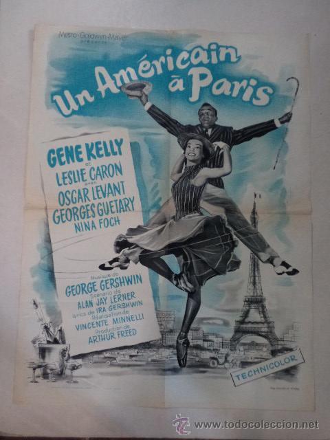 CARTEL FRANCÉS UN AMÉRICAIN À PARIS (UN AMERICANO EN PARIS ) (Cine - Posters y Carteles - Musicales)