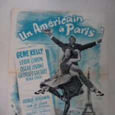 Cine: CARTEL FRANCÉS UN AMÉRICAIN À PARIS (UN AMERICANO EN PARIS ). Lote 52877507