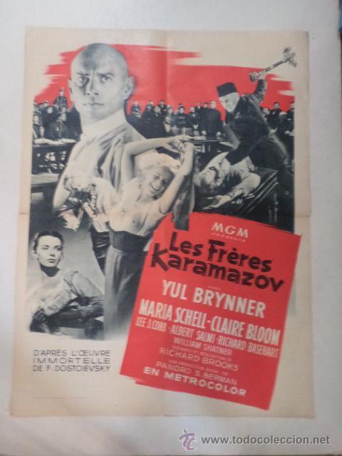 CARTEL FRANCÉS LES FRÈRES KARAMAZOV (LOS HERMANOS KARAMAZOV) (Cine- Posters y Carteles - Drama)