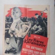 Cine: CARTEL FRANCÉS LES FRÈRES KARAMAZOV (LOS HERMANOS KARAMAZOV). Lote 52877596
