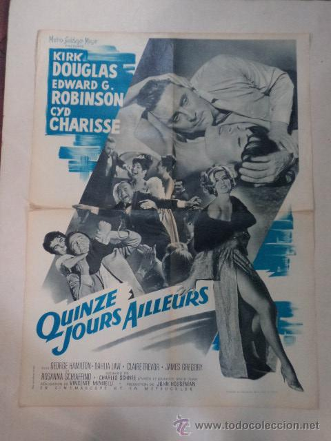 CARTEL FRANCÉS QUINZE JOURS AILLEURS (DOS SEMANAS EN OTRA CIUDAD) (Cine- Posters y Carteles - Drama)