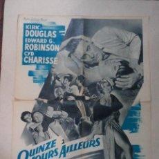 Cine: CARTEL FRANCÉS QUINZE JOURS AILLEURS (DOS SEMANAS EN OTRA CIUDAD). Lote 52877640