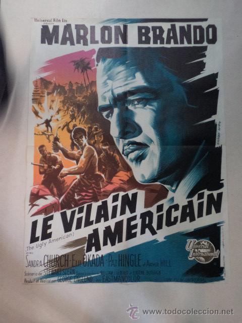 CARTEL FRANCÉS LE VILAIN AMÉRICAIN (SU EXCELENCIA EL EMBAJADOR) (Cine- Posters y Carteles - Drama)