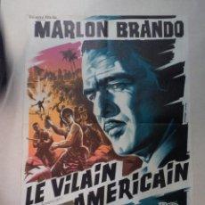 Cine: CARTEL FRANCÉS LE VILAIN AMÉRICAIN (SU EXCELENCIA EL EMBAJADOR). Lote 52877798