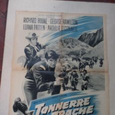 Cine: CARTEL FRANCÉS TONNERRE APACHE (FORT COMANCHE). Lote 52877864