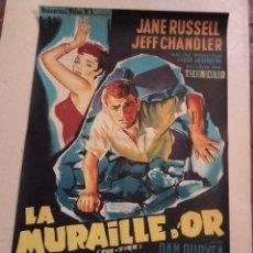 Cine: CARTEL FRANCÉS LA MURAILLE D'OR (EL CALOR DEL AMOR). Lote 52883936