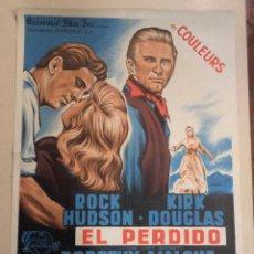 Cine: CARTEL FRANCÉS EL PERDIDO (EL ÚLTIMO ATARDECER). Lote 52884206