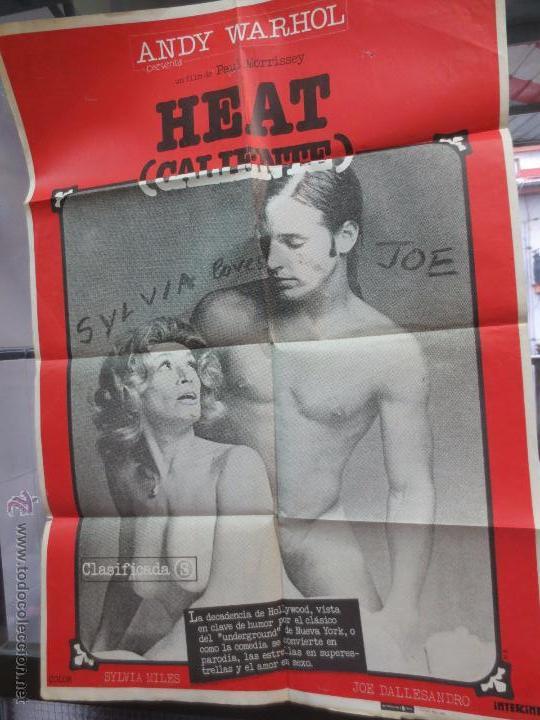 CARTEL HEAT CALIENTE CON SYLVIA MILES & JOE DALLESANDRO AÑO 1980 (Cine - Posters y Carteles - Clasico Español)