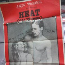 Cine: CARTEL HEAT CALIENTE CON SYLVIA MILES & JOE DALLESANDRO AÑO 1980. Lote 52959908
