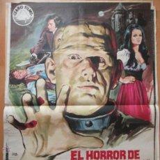 Cine: CARTEL CINE, EL HORROR DE FRANKENSTEIN, RALPH BATES, JANO, 1971, C803. Lote 52966570