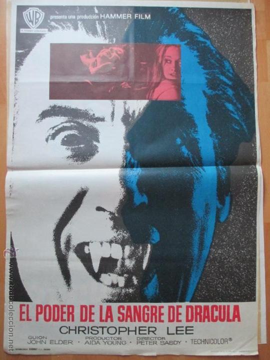 CARTEL CINE, EL PODER DE LA SANGRE DE DRACULA, CHRISTOPHER LEE, 1972, C804 (Cine - Posters y Carteles - Terror)