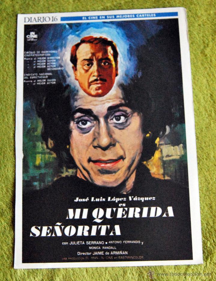 CINE - MI QUERIDA SEÑORITA - POSTER DE 21 × 29 CM. (Cine - Posters y Carteles - Aventura)