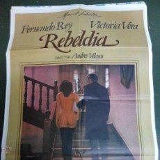 Cine: REBELDÍA - APROX 70X100 CARTEL ORIGINAL CINE. Lote 53018412
