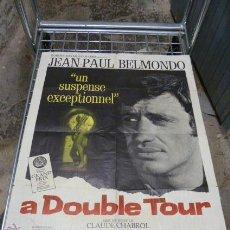 Cine: A DOUBLE TOUR -CON JEAN PAUL BELMONDE-CARTEL DE CINE FRANCES. Lote 53110869