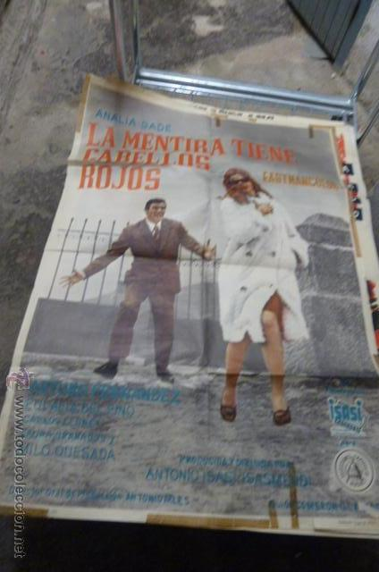 LA MENTIRA TIENE CABELLOS ROJOS -CON ANALIA GADE Y ARTURO FERNANDEZ CARTEL DE CINE (Cine - Posters y Carteles - Clasico Español)
