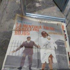 Cine: LA MENTIRA TIENE CABELLOS ROJOS -CON ANALIA GADE Y ARTURO FERNANDEZ CARTEL DE CINE. Lote 53110941