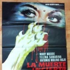 Cine: LA MUERTE INCIERTA CARTEL ORIGINAL 100X70 CM. Lote 53141237