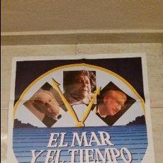 Cine: CARTEL DE LA PELICULA EL MAR Y EL TIEMPO FERNANDO FERNAN GOMEZ AÑOS 80 70*100 POSTER ORIGINAL. Lote 53359928