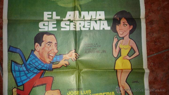 Cine: Gran cartel pelicula española el alma se serena . concha velasco y alfredo landa 100/ 70 cm 1968 - Foto 2 - 53378568