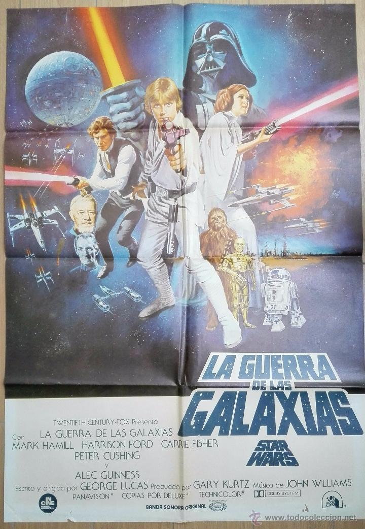 ESPECTACULAR CARTEL ORIGINAL DE 1978 LA GUERRA DE LAS GALAXIAS ( STARS WAR ). 98 X 68 CMS.VER FOTOS (Cine - Posters y Carteles - Ciencia Ficción)