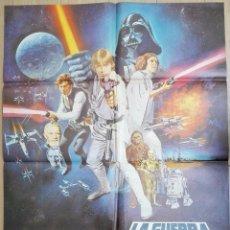 Cine: ESPECTACULAR CARTEL ORIGINAL DE 1978 LA GUERRA DE LAS GALAXIAS ( STARS WAR ). 98 X 68 CMS.VER FOTOS. Lote 53407105