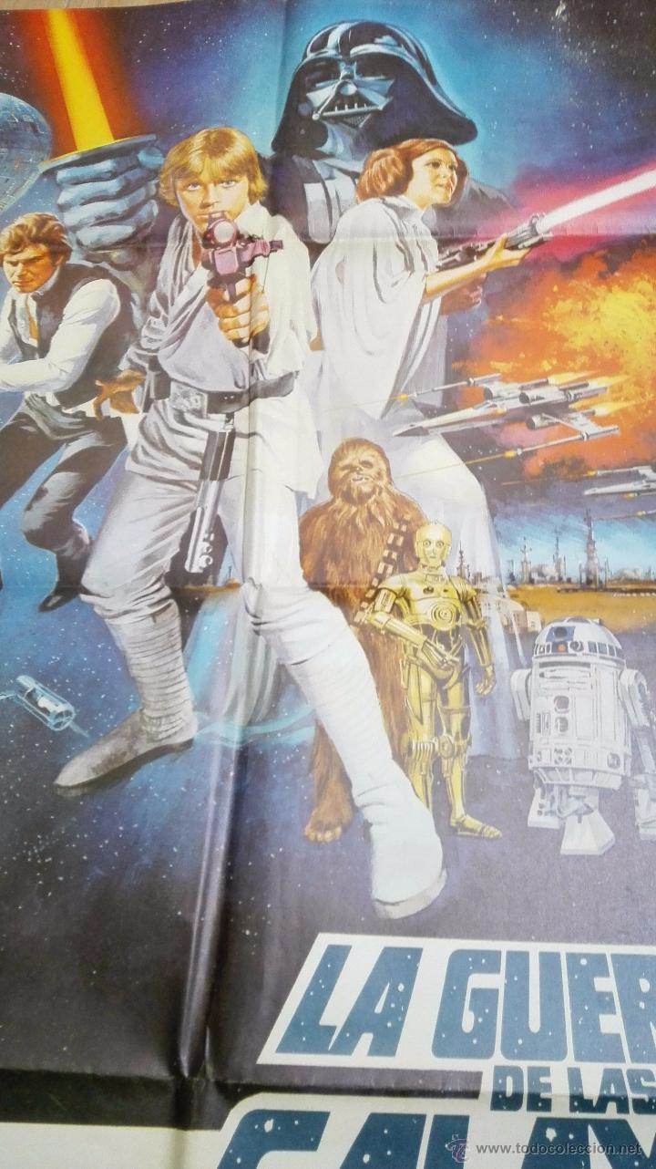 Cine: Espectacular Cartel Original de 1978 La Guerra de las Galaxias ( Stars War ). 98 X 68 cms.Ver fotos - Foto 2 - 53407105