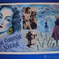 Cine: (PA-1220)CARTEL ORIGINAL DE LA PELICULA LA CORONA NEGRA AÑOS 50. Lote 53416540
