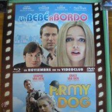 Cine: UN BEBÉ A BORDO + ARMY DOG POSTER. Lote 53420558