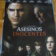 Cine: ASESINOS INOCENTES - MIGUEL ANGEL SOLA, MAXI IGLESIAS, AURA GARRIDO POSTER. Lote 53421120