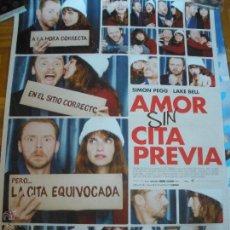 Cine: AMOR SIN CITA PREVIA LAKE BELL SIMON PEGG POSTER. Lote 53421313