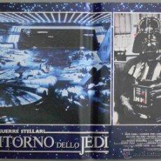 Cine: QQ25D GUERRA DE LAS GALAXIAS STAR WARS EL RETORNO DEL JEDI SET DE 10 POSTERS ITALIANO 47X68. Lote 19665294