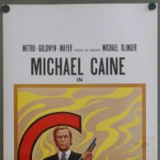 Cine: QQ28 ASESINO IMPLACABLE GET CARTER MICHAEL CAINE POSTER ORIGINAL 33X70 ITALIANO. Lote 53464416