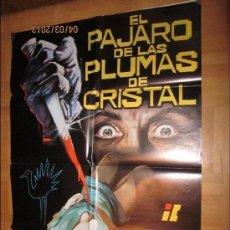 Cine: EL PAJARO DE LAS PLUMAS DE CRISTAL CARTEL ORIGINAL DEL ESTRENO DEL PELICULA (MEDIDA 0.96X76CM). Lote 36087909