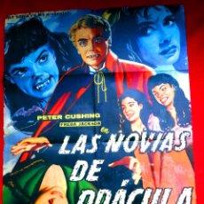 Cine: LAS NOVIAS DE DRACULA 1961 (CARTEL ORIGINAL ESTRENO EN ESPAÑA) PETER CUSHING - CLASICOS HAMMER FILMS. Lote 53573535