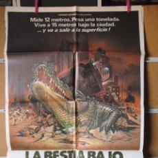 Cine: POSTER1928 LA BESTIA BAJO EL ASFALTO. Lote 131375422