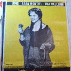 Cine: LA VIOLETERA. SARA MONTIEL.CARTEL DE CINE- MOVIE POSTER. Lote 53619670