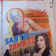 Cine: SANTO CONTRA LOS ZOMBIES. 1964. CARTEL DE CINE- MOVIE POSTER. Lote 53620596