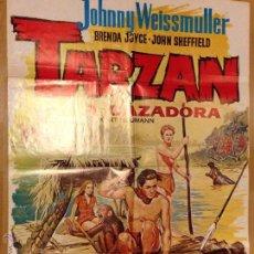Cine: CARTEL O PÓSTER DE TARZAN Y LA CAZADORA . JOHNNY WEISSMULLER. Lote 41054002