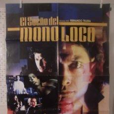 Cinéma: CARTEL CINE ORIG EL SUEÑO DEL MONO LOCO (1989) / 70X100 / MIRANDA RICHARDSON. Lote 53694450