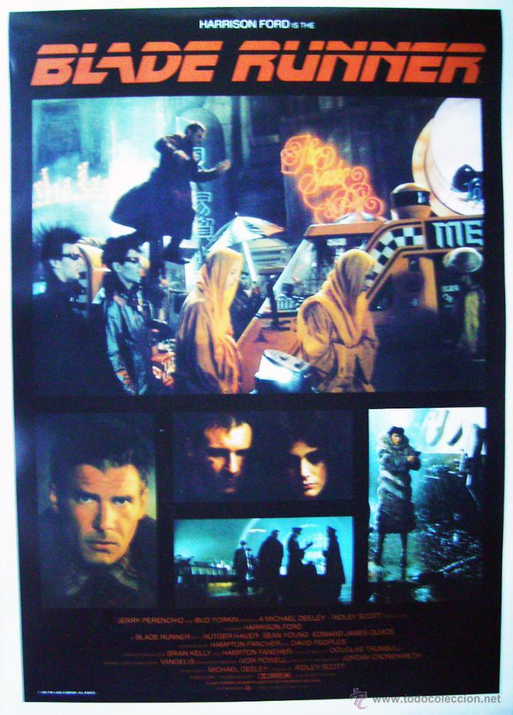 BLADE RUNNER, CON HARRISON FORD. POSTER REPRODUCCIÓN 64 X 90 CMS. (Cine - Posters y Carteles - Acción)