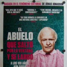 Cine: EL ABUELO QUE SALTÓ POR LA VENTANA Y SE LARGÓ. Lote 53829832