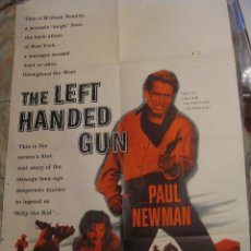 Cine: EL ZURDO CARTEL ORIGINAL ESTADOS UNIDOS THE LEFT HANDED GUN 1958 PAUL NEWMAN. Lote 53842521