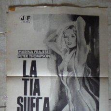 Cine: LA TIA SUECA. CARTEL DE CINE - MOVIE POSTER. Lote 53861435