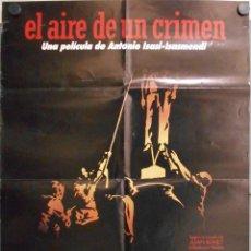 Cine: WP01 EL AIRE DE UN CRIMEN FRANCISCO RABAL MARIBEL VERDU ISASI-ISASMENDI POSTER ORIG 70X100 ESTRENO. Lote 53960431