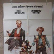 Cine: CARTEL CINE ORIG EL ULTIMO TREN DE GUN HILL (1959) 70X100 / KIRK DOUGLAS / ANTHONY QUINN. Lote 53995035