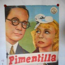 Cine: CARTEL LITOGRAFICO - PIMENTILLA - 100 X 70 CMS. Lote 54046359