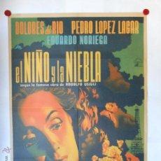 Cine: CARTEL LITOGRAFICO - EL NIÑO Y LA NIEBLA - ILUSTRADO Y FIRMADO POR RENAU - 100 X 70 CMS. Lote 54046725