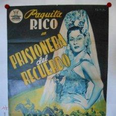Cine: CARTEL LITOGRAFICO - PRISIONERA DEL RECUERDO - ILUSTRADO POR PERIS ARAGO - 100 X 70 CMS. Lote 54047387