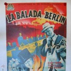 Cine: CARTEL LITOGRAFICO - LA BALADA DE BERLIN - 100 X 70 CMS. Lote 54047739