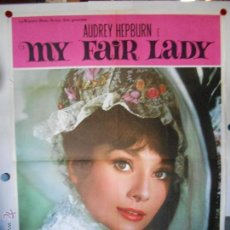 Cine: CARTEL DOBLE - OFFSET - MY FAIR LADY - 140 X 70 CMS - ORIGINAL ITALIANO. Lote 54063473